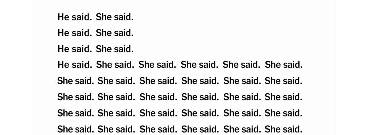 Erkeğin Sözüne Karşı Kadının Sözü, Kadının Sözü, Kadının Sözü