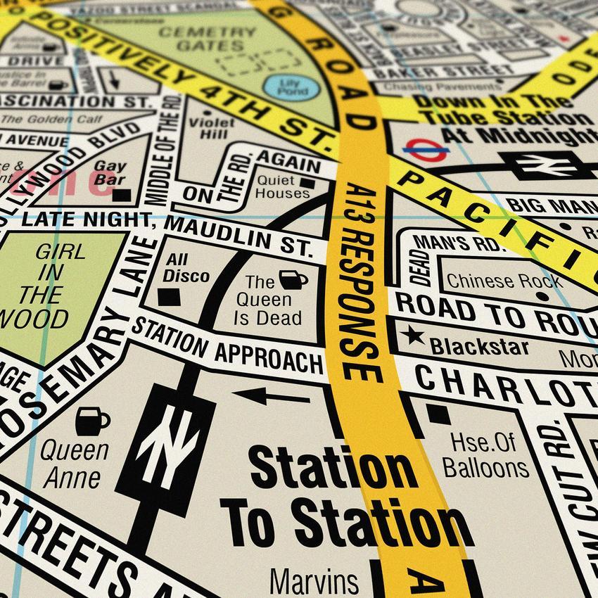 Sıkıcı Sokak İsimleri Yerine Şarkı İsimleriyle Harita