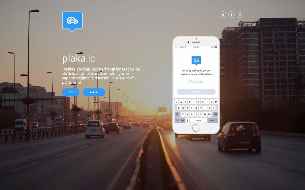 Trafikte Başınızdan Geçenlerin Mecrası: Plaka.io