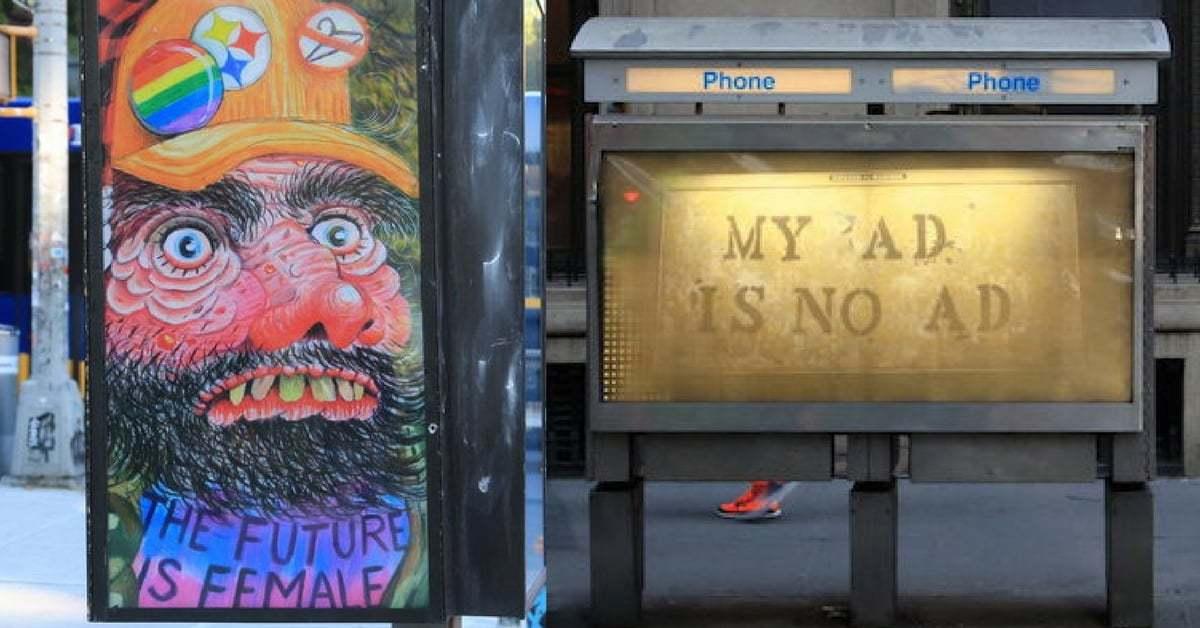 Açık Hava Reklamlarının Yerini Sanat Eserleri Ele Geçirdi