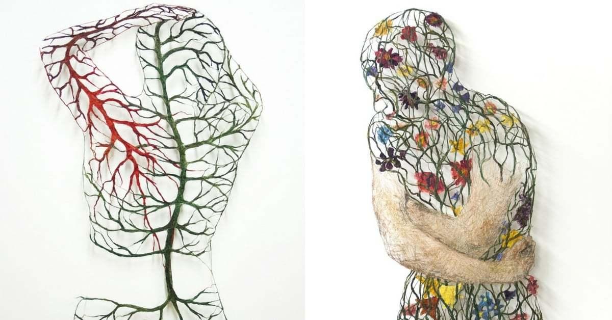 Çiçeklerle, Köklerle ve Dallarla Örülü Bedenler