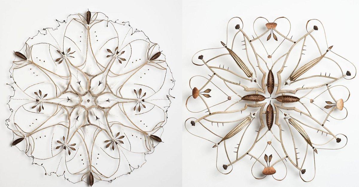 Organik Malzemelerle Mandala Heykeller