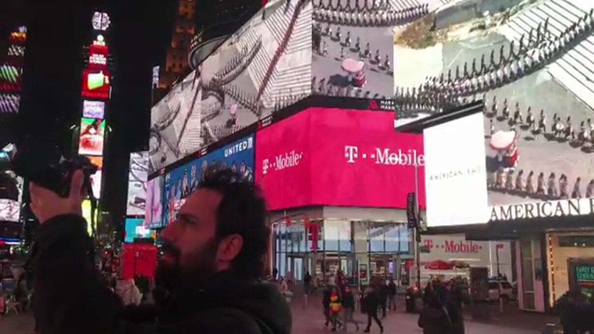 Erdal İnci'nin Eseriyle Taksim Meydanı, Times Meydanı'nda!
