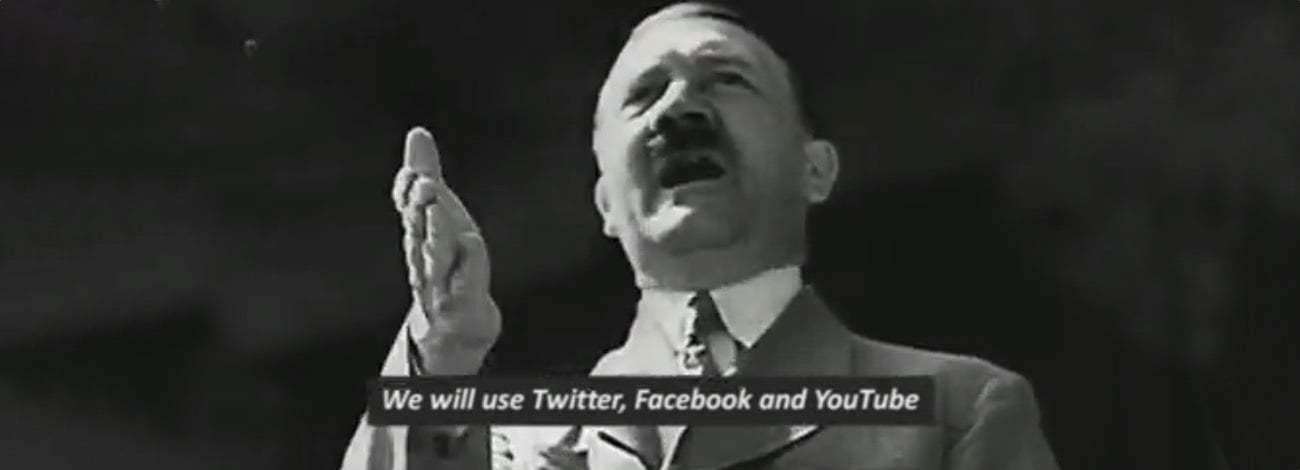 Faşizmin Sosyal Medyayı Ele Geçirme Taktiklerini Hitler'den Dinleyin