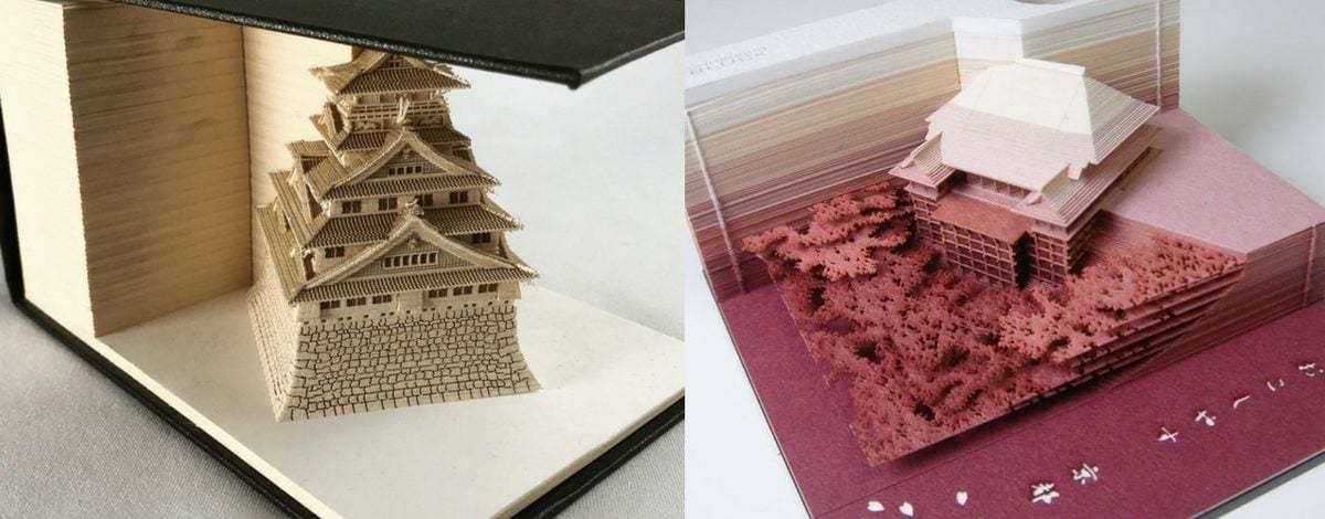 İçinde Mimari Yapılar Gizli Not Kağıdı Blokları: Omoshiroi Block