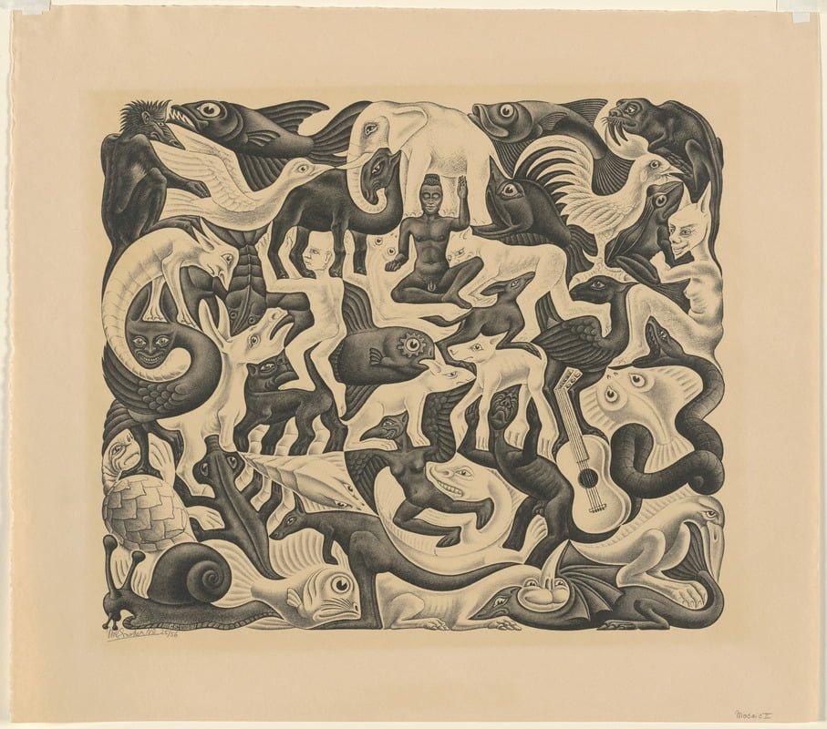 Escher'in Eserleri Yüksek Çözünürlüklü Olarak İnternete Açıldı