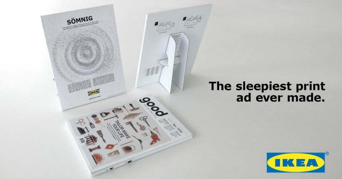 IKEA'nın Sesli ve Kokulu İlanı Uykuya Dalmayı Kolaylaştırıyor