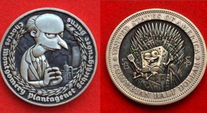 Popüler Kültürün Kahramanları Madeni Paralarda