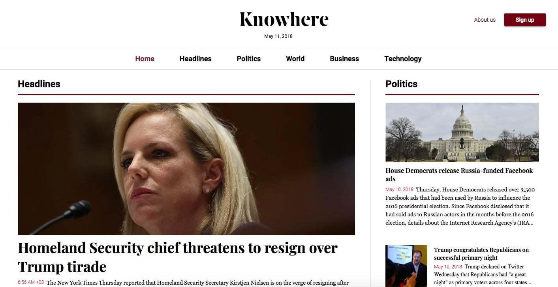 Yapay Zeka Haberciliği: Knowhere News