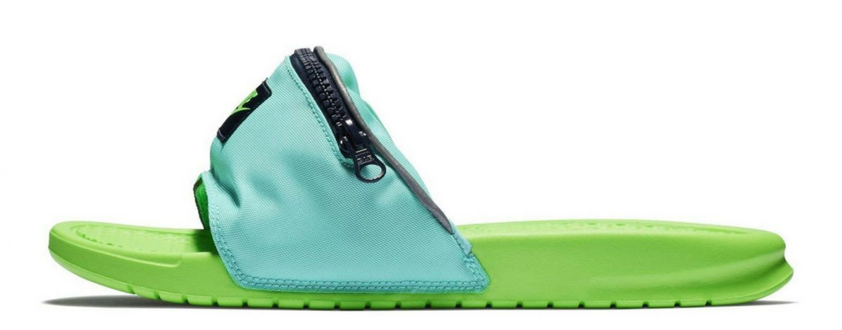 Nike'den Bel Çantası Takmış Terlikler