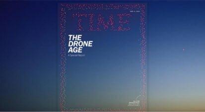 TIME Dergisinin Yeni Sayısının Kapağı 958 Drone'la Yaratıldı