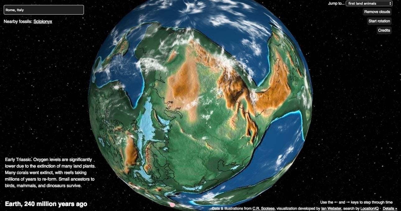 Dünya'nın 750 Milyon Yılına Bakan İnteraktif Harita
