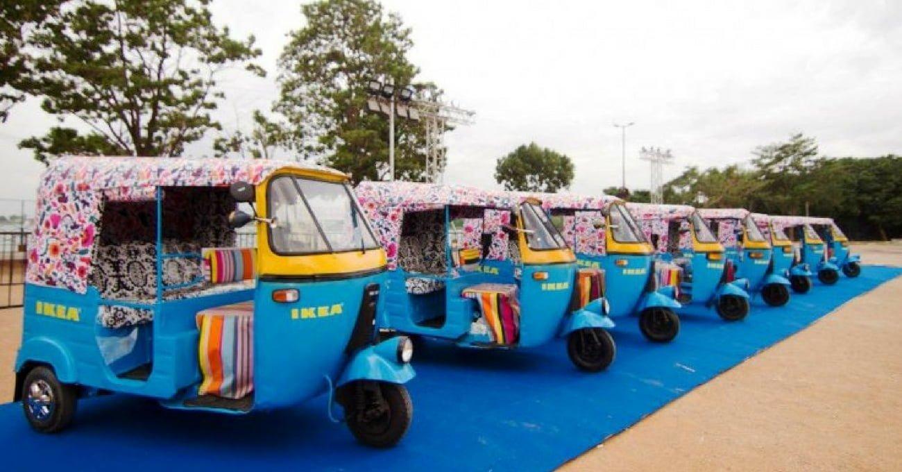 IKEA Hindistan'da Güneş Enerjili Tuk-Tuklarla Teslimat Yapacak