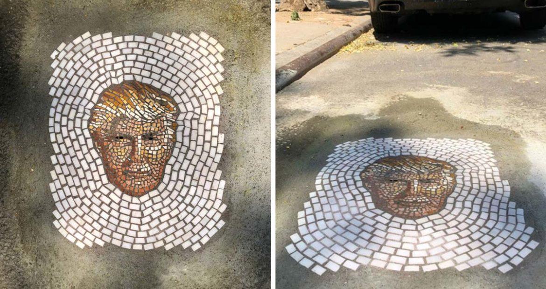 Sokaklardaki Çukurları Süsleyen Haşere Mozaikleri