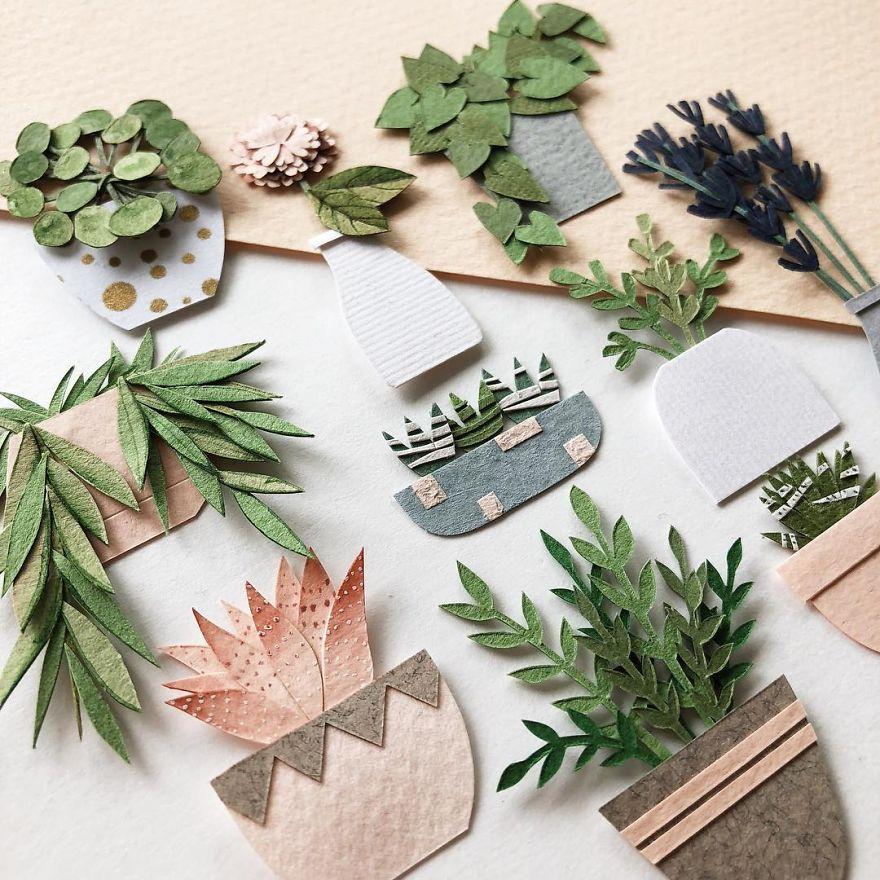 Minicik Kağıt Bitkiler