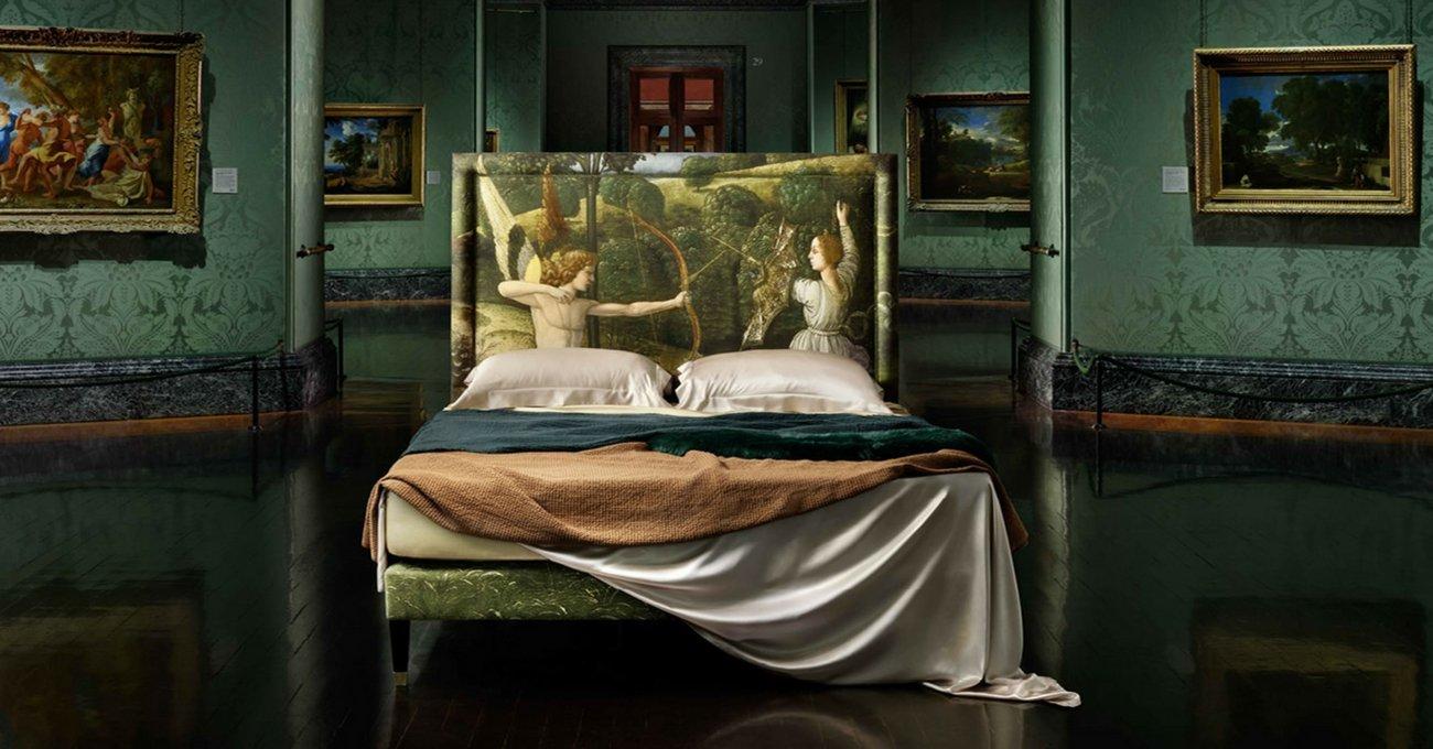 Klasik Eserlerle Bezenmiş Yataklar