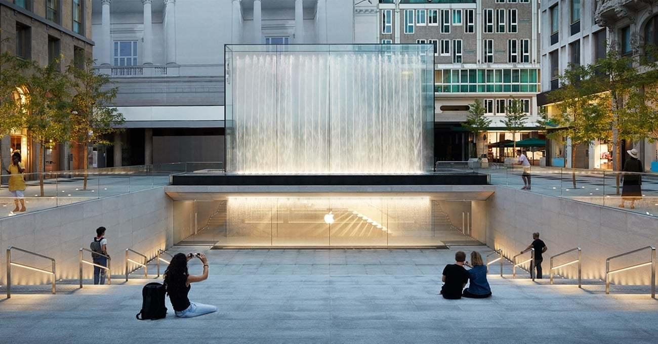 Milano'daki Yer Altına Gizlenmiş Apple Store Açıldı