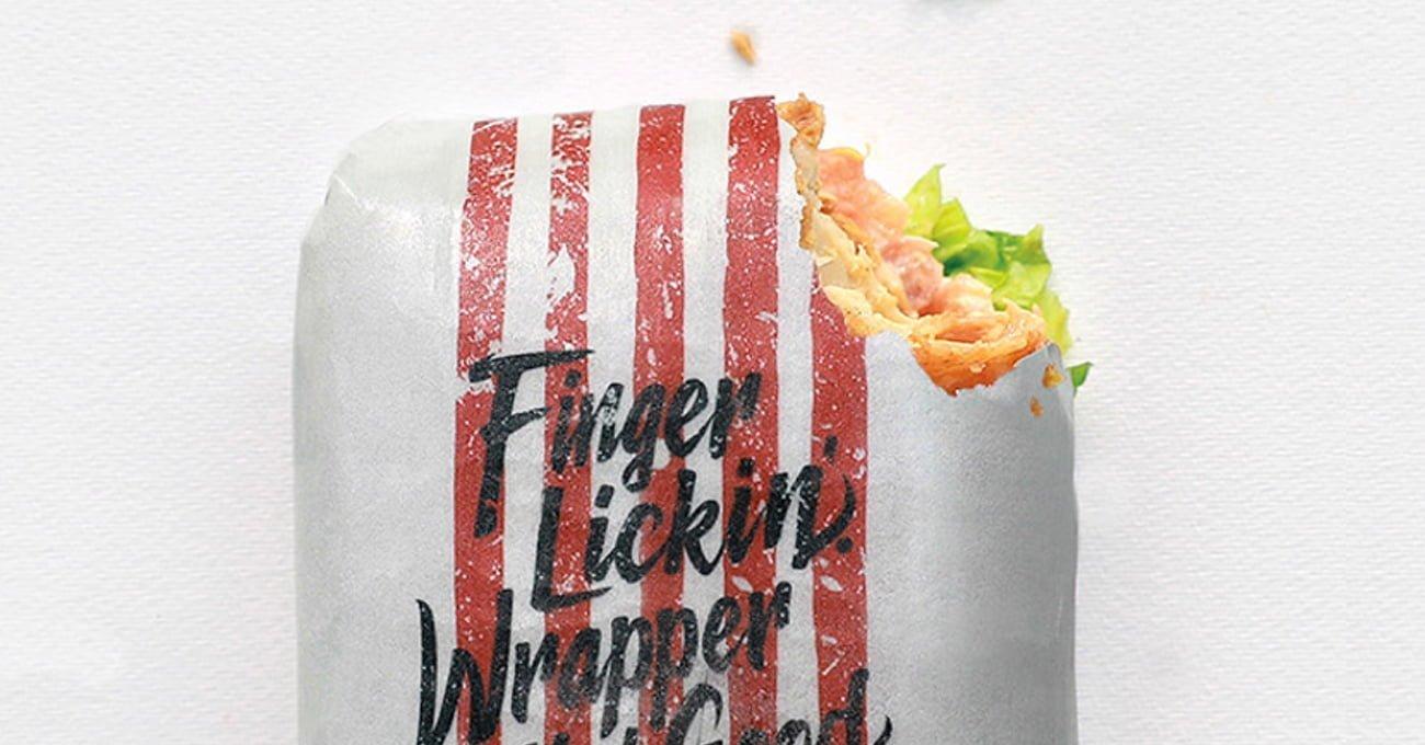 KFC'den Ambalajıyla Birlikte Yenebilen Sandviç
