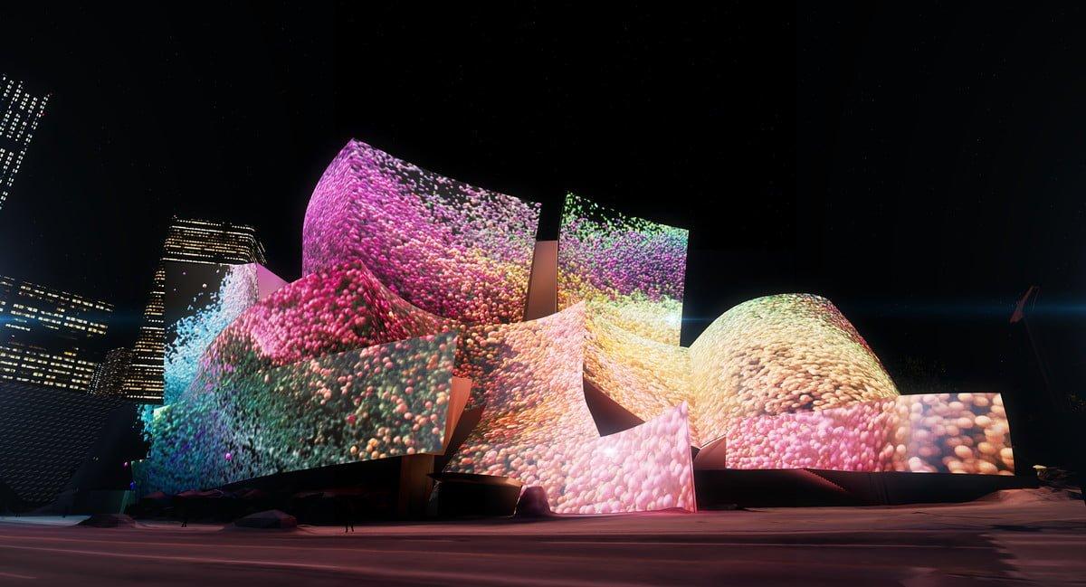 Refik Anadol, Walt Disney Concert Hall'un Dış Cephesini Ele Geçiriyor