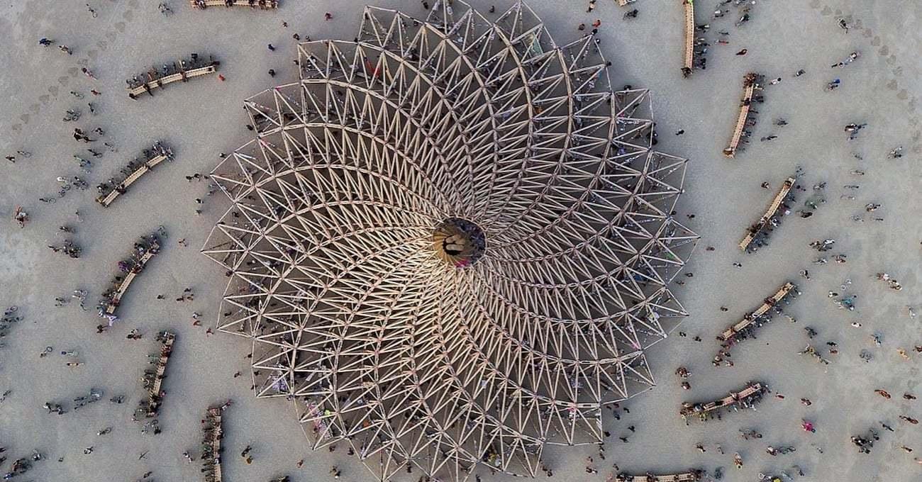 Burning Man 2018'e Drone Gözünden Bakın