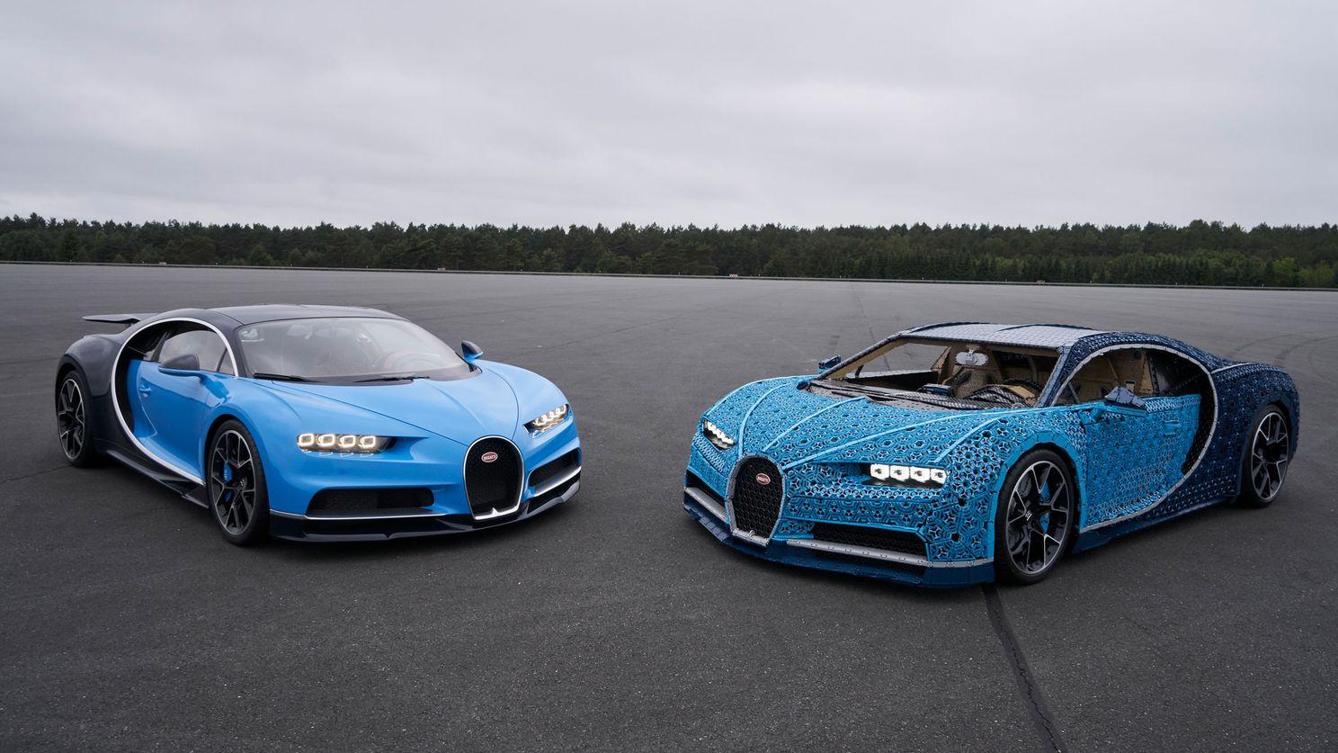 Tüm Parçaları LEGO'dan Oluşan Harekete Hazır Bugatti Chiron