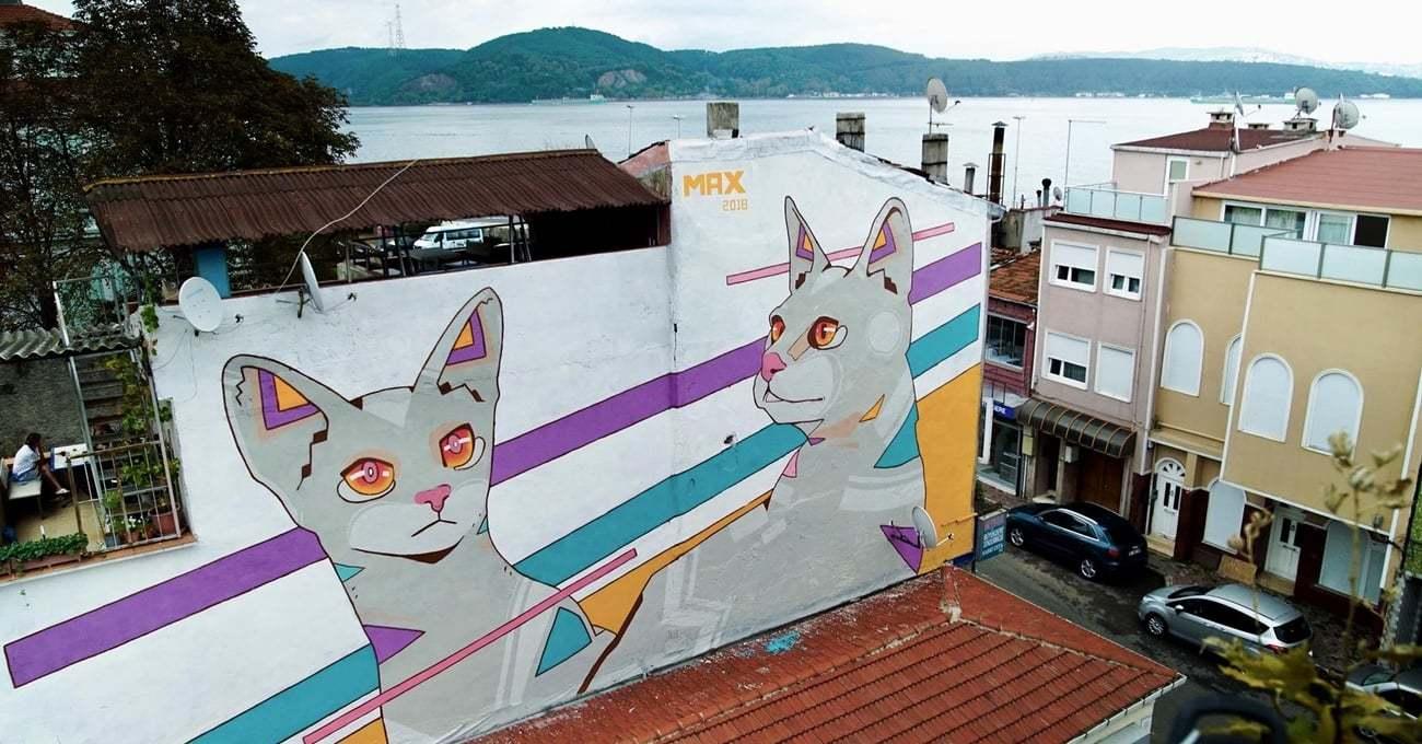 Mural İstanbul ile Yapılan Sarıyer'in Yeni Duvar Resimleri