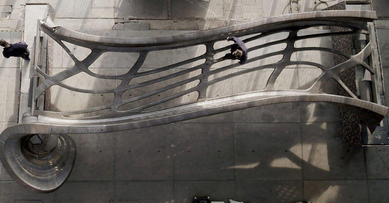 3B Baskı Çelik Köprü Kullanıma Hazır