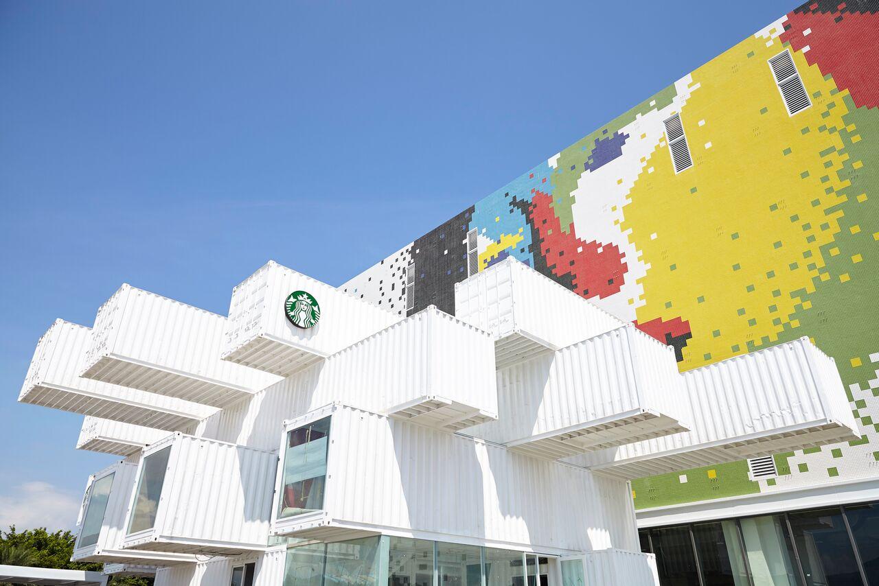 Kengo Kuma Konteynerlerden Starbucks Tasarladı