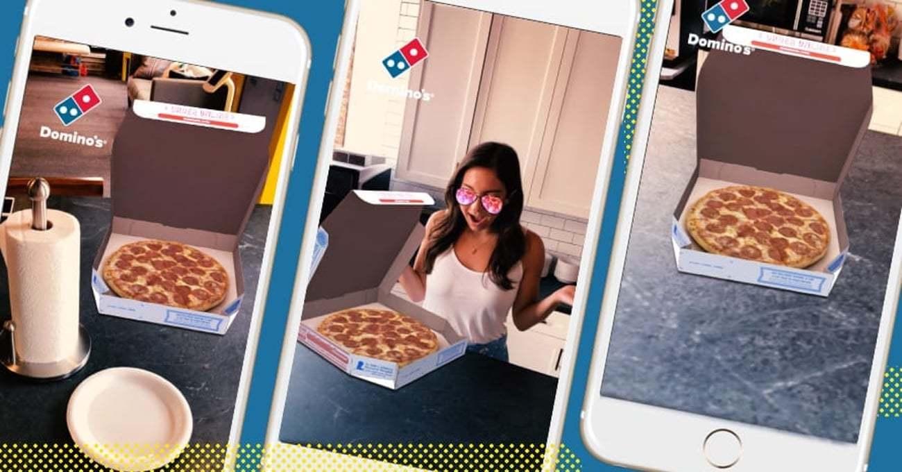 Artırılmış Gerçeklikle Snapchat Üzerinden Domino's Siparişi