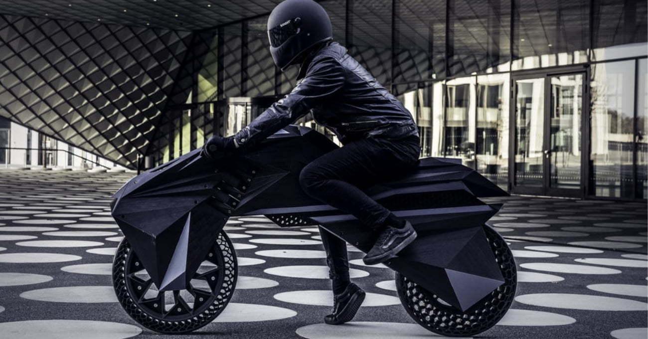 3B Baskı Elektrikli Motosiklet