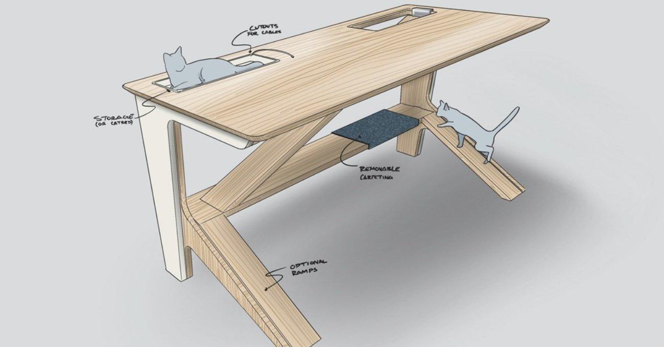 Kediye Oyun Alanı, Sana Çalışma Masası: Ascend Desk