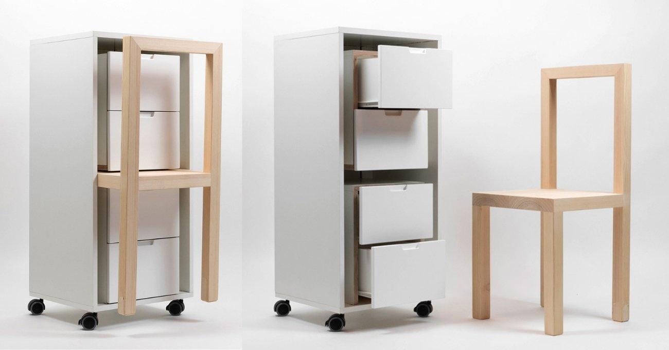 Chairs Everywhere - İçinde Sandalyelerin Gizlendiği Mobilya Tasarımları