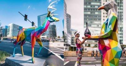 Okuda San Miguel'den Boston'a Rengarenk Heykeller Air Sea Land