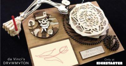 Da Vinci'nin Robotundan İlhamla Tasarlanan Çizim Makinesi: Drawmaton