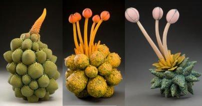Başka Bir Dünyadan Gelmiş Gibi Duran Seramik Bitkiler