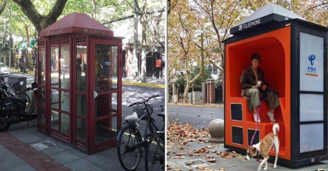 Eski Telefon Kulübeleri Kent Mobilyalarına Dönüşürse