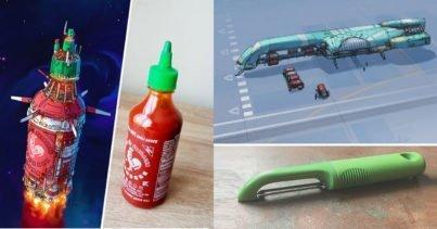 Eric Geusz - Sıradan Eşyalardan Esinlenerek Uzay Gemisi Çizmek