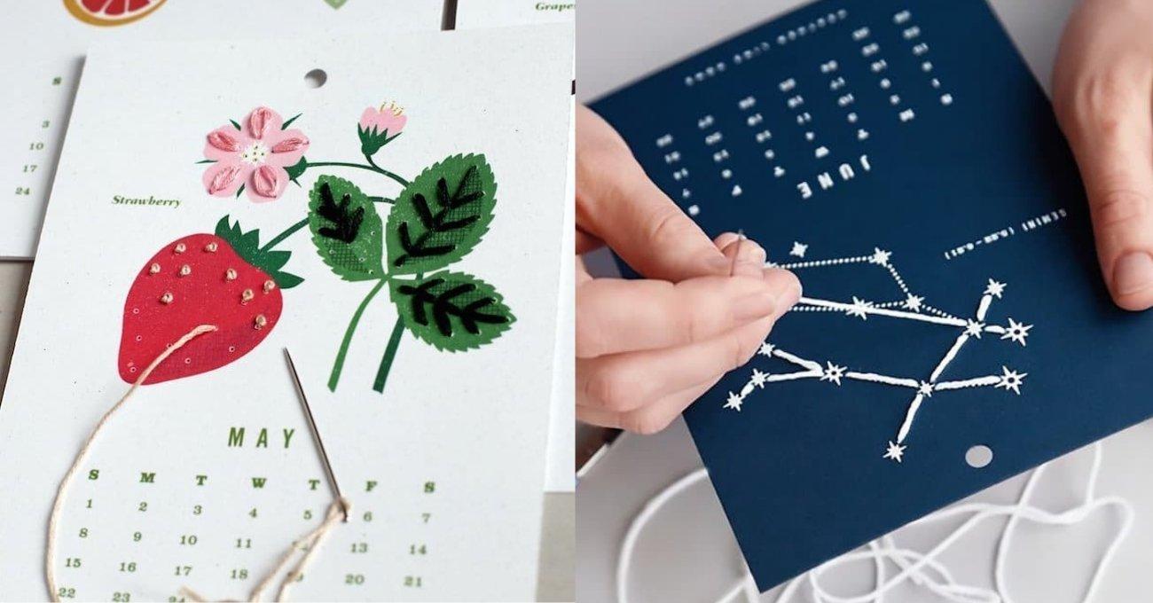 2019 Calendar Kits Kendin Yap Takvim Kiti ile Her Aya Bir Nakış