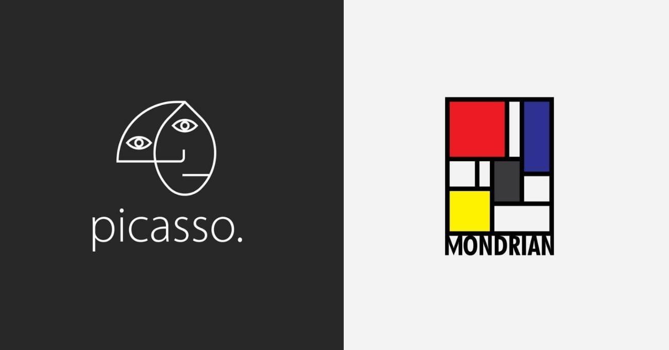Ünlü Ressamlara Modern Logolar