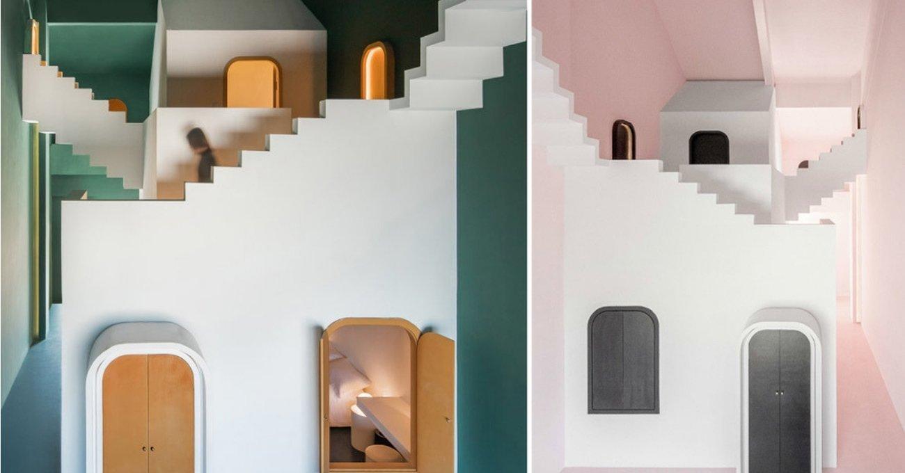 Escher'in İmkansız Mimarilerinden Esinlenen İç Mekan Tasarımları