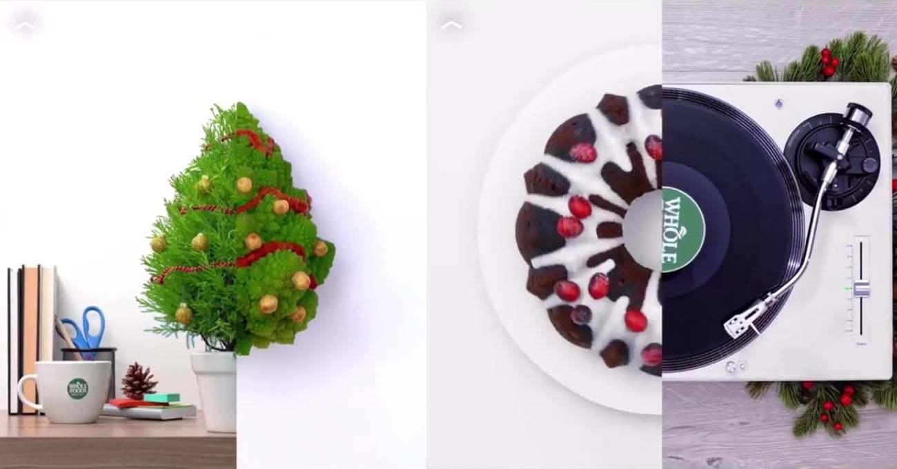 Whole Foods'un İki Farklı Objeyi Birleştirdiği Yılbaşı Kolajları