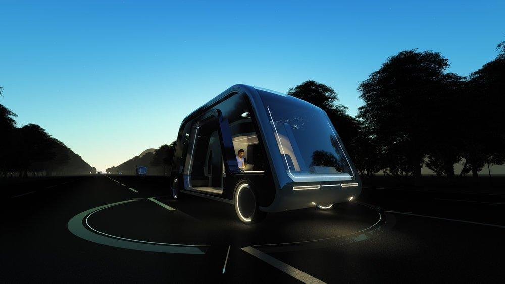 Autonomous Travel Suite: Bu Sürücüsüz Araç Aynı Zamanda Bir Otel Odası