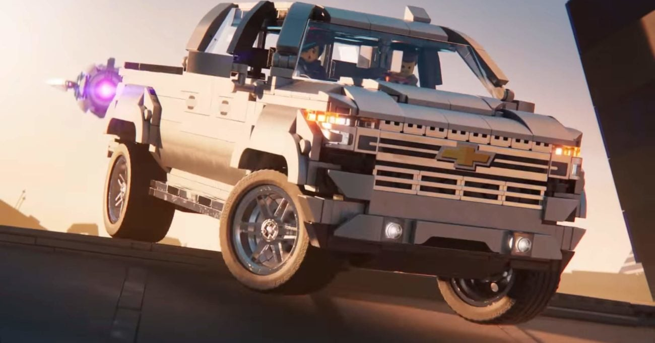 The LEGO Movie 2: The Second Part'ta Boy Gösteren Chevrolet Silverado