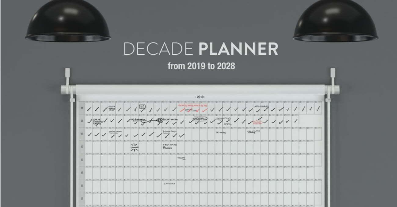 Uzun Dönemli Hedefler İçin 10 Yıllık Takvim: Decade Planner