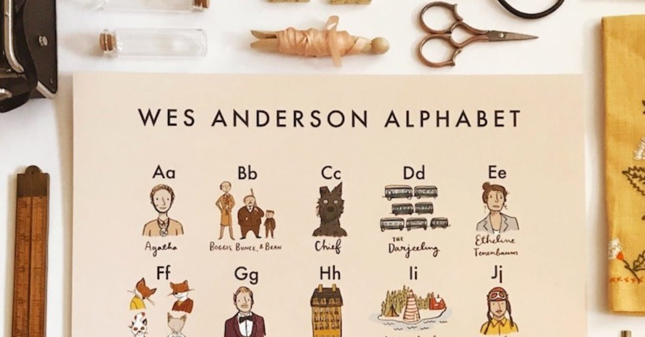 Wes Anderson Alfabesi
