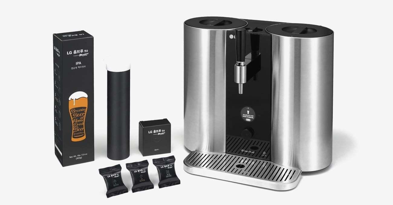 LG HomeBrew Kapsül Kahve Sistemiyle Bira Üretiyor