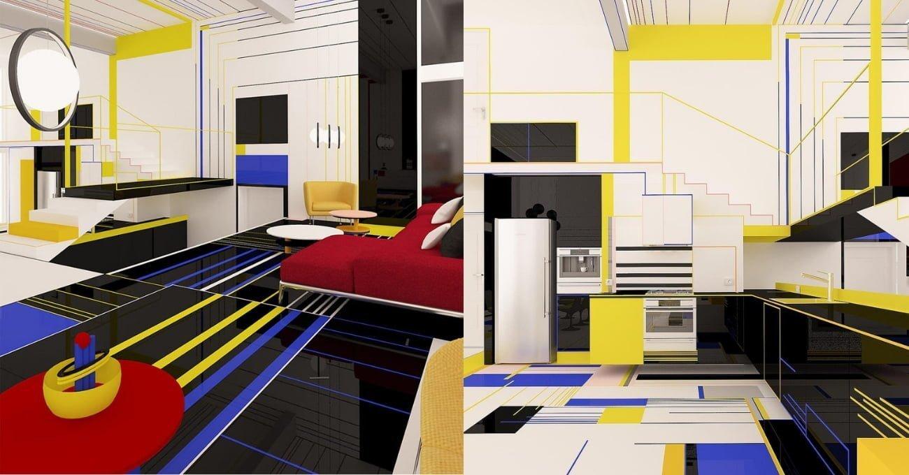 Piet Mondrian Tablosunun İçinde Yaşamak