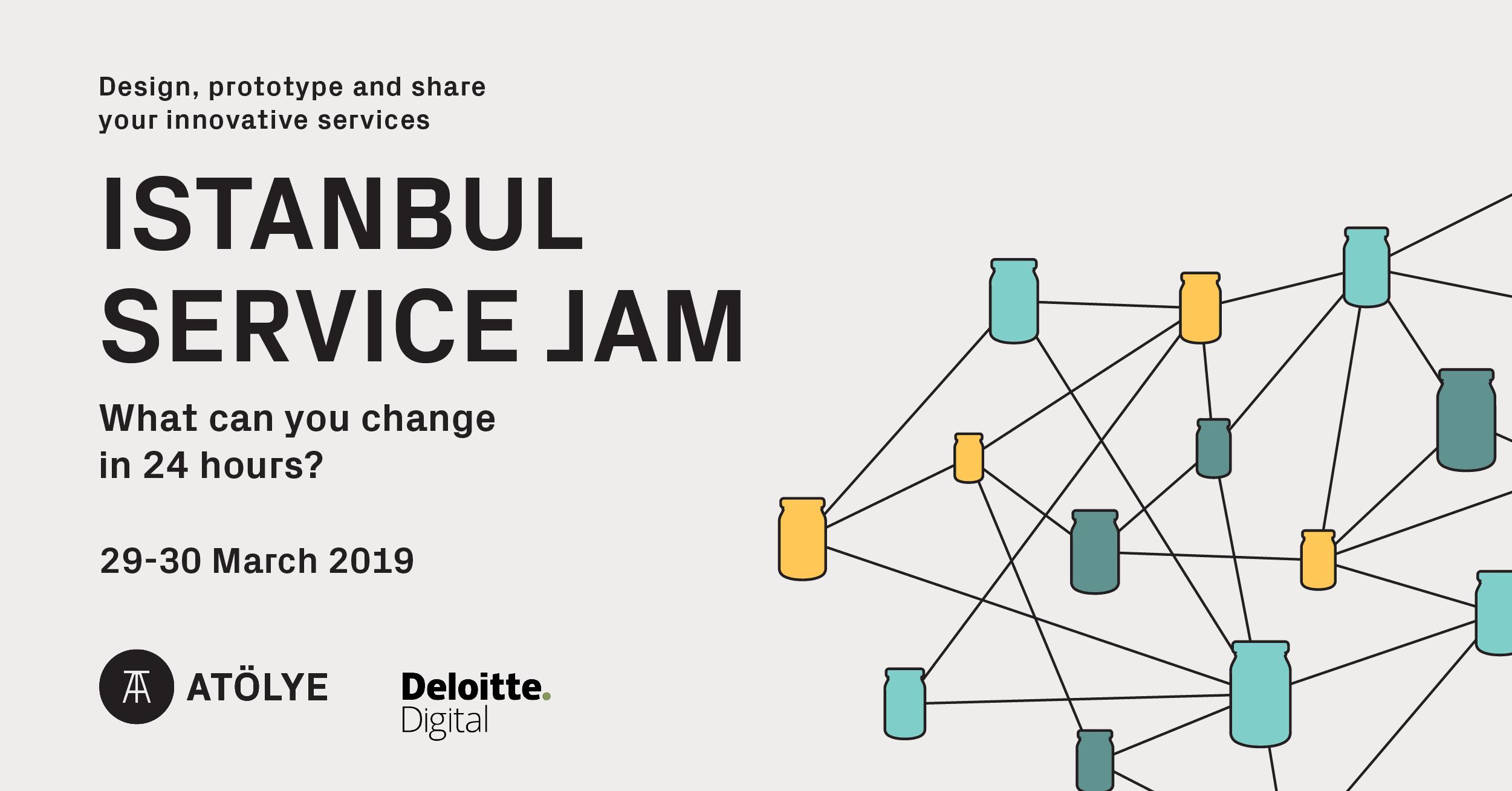 İstanbul Service Jam 29-30 Mart'ta ATÖLYE'de