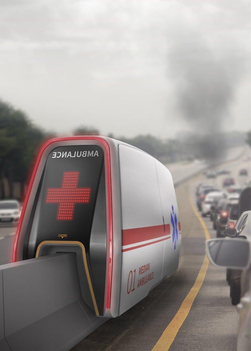The Median AMB: Trafikten Etkilenmeyen Ambulans