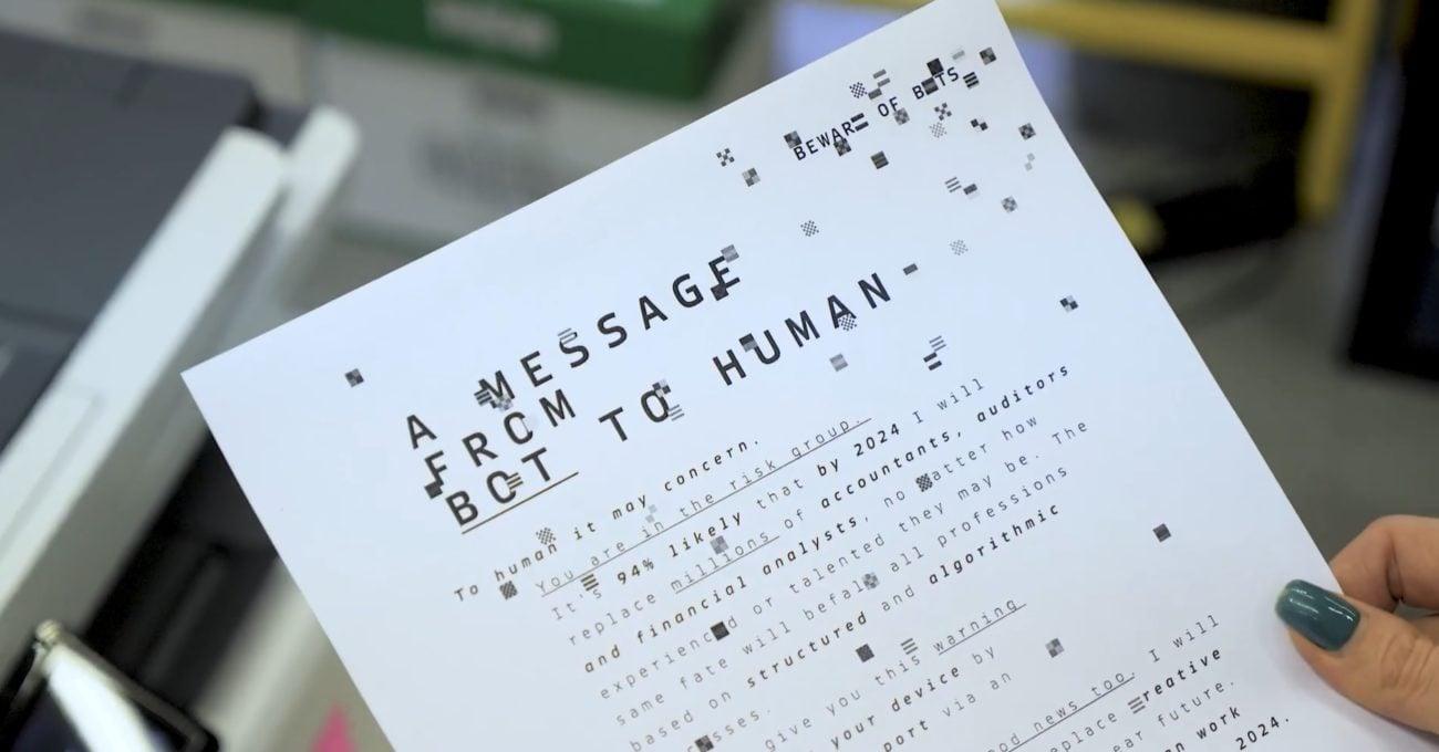 Robotlardan Mesaj Var